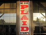 Plaid_Stamp_sign_at_Cracker_Barrel,_Lubbock,_TX_IMG_4691