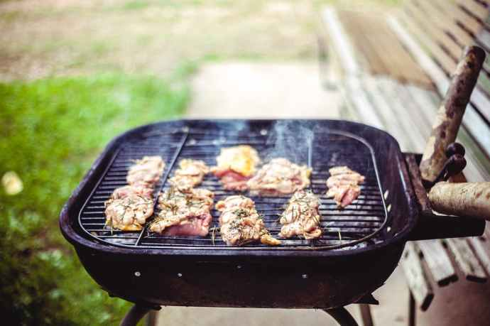 barbecue bbq beef charcoal