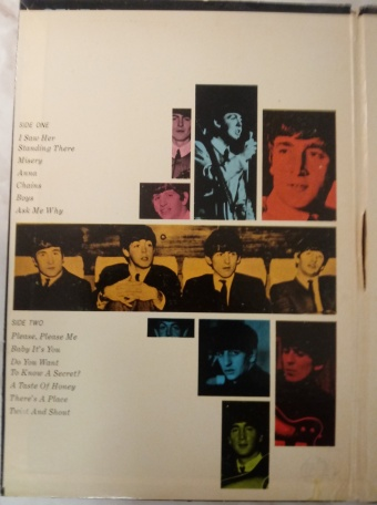 Back of Early Beatles Album
