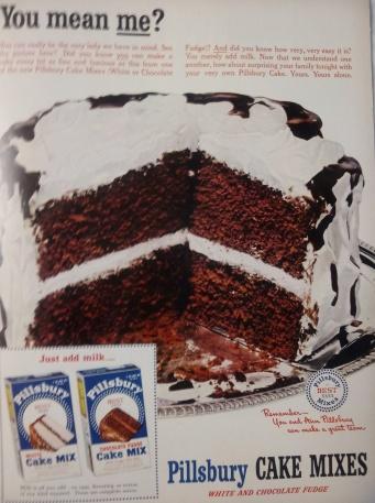 Pillsbury Cake Ad 1951